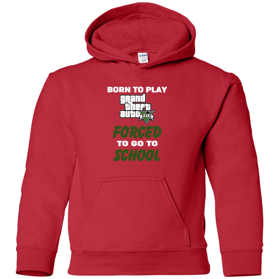 Born To Play Grand Theft Auto Forced To Go To School 59-331-74209588-1258 - Tee Ript