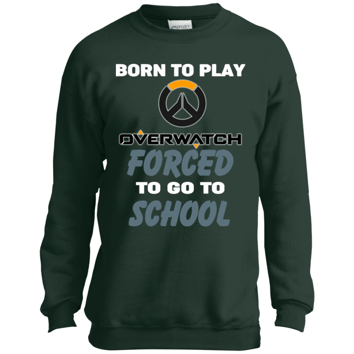 Born To Play Overwatch Forced To Go To School 58-329-74209660-35270 - Tee Ript