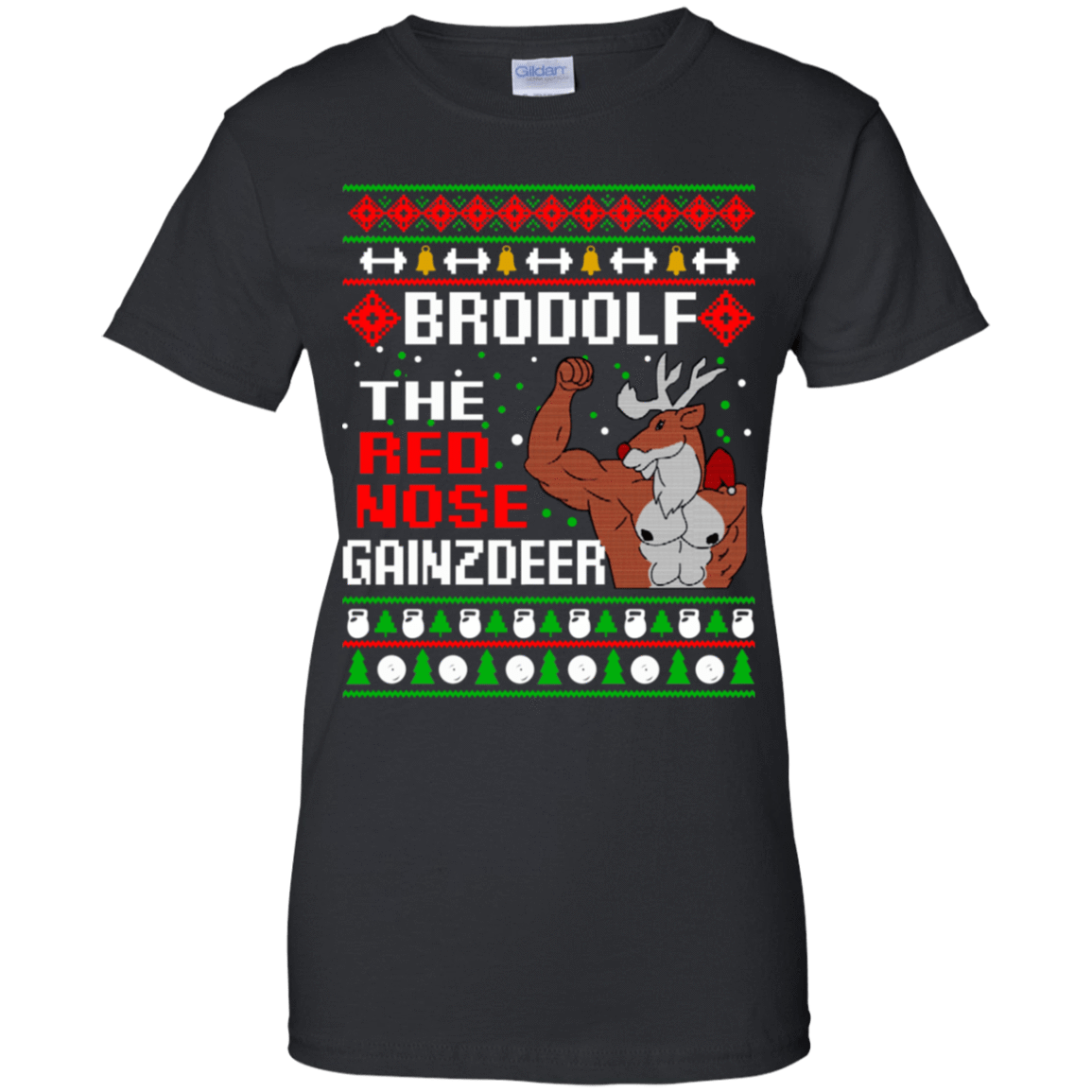 Brodolf The Red Nose Gainzdeer Christmas Sweater, T-Shirts & Hoodies 939-9248-73888886-44695 - Tee Ript