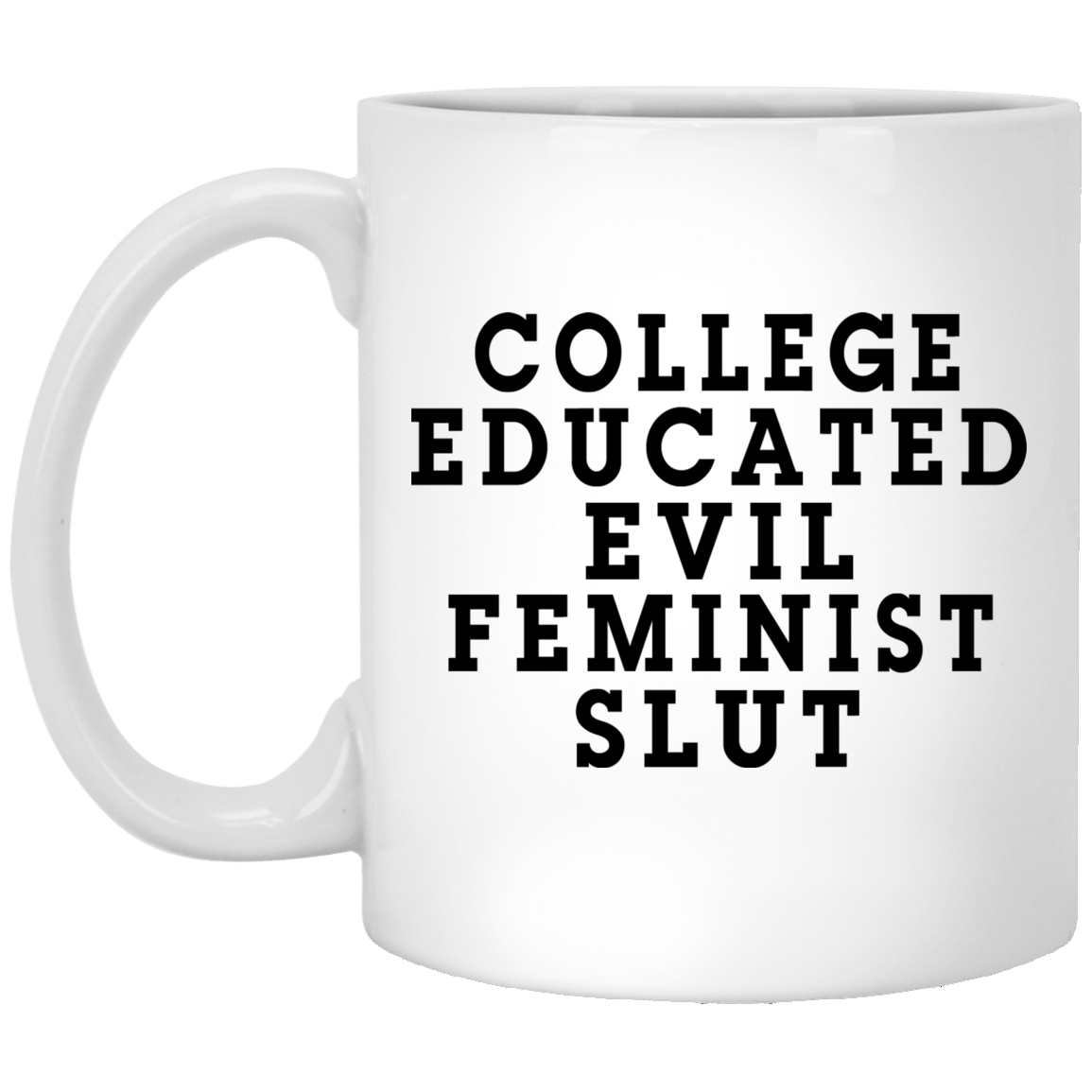 College Educated Evil Feminist Slut Mug 1005-9786-87283846-47417 - Tee Ript