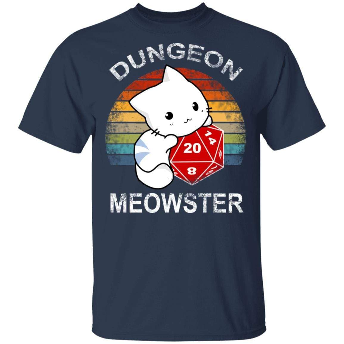 Dungeon Meowster Retro Vintage Funny Cat T-Shirts, Hoodies 1049-9966-90279036-48248 - Tee Ript