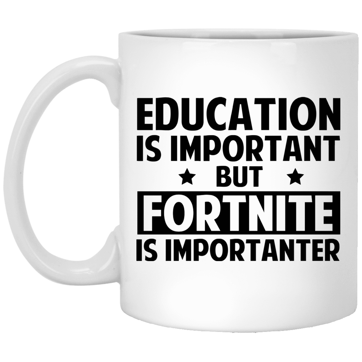Education Is Important But Fortnite Is Importanter Mug 1005-9786-73514783-47417 - Tee Ript