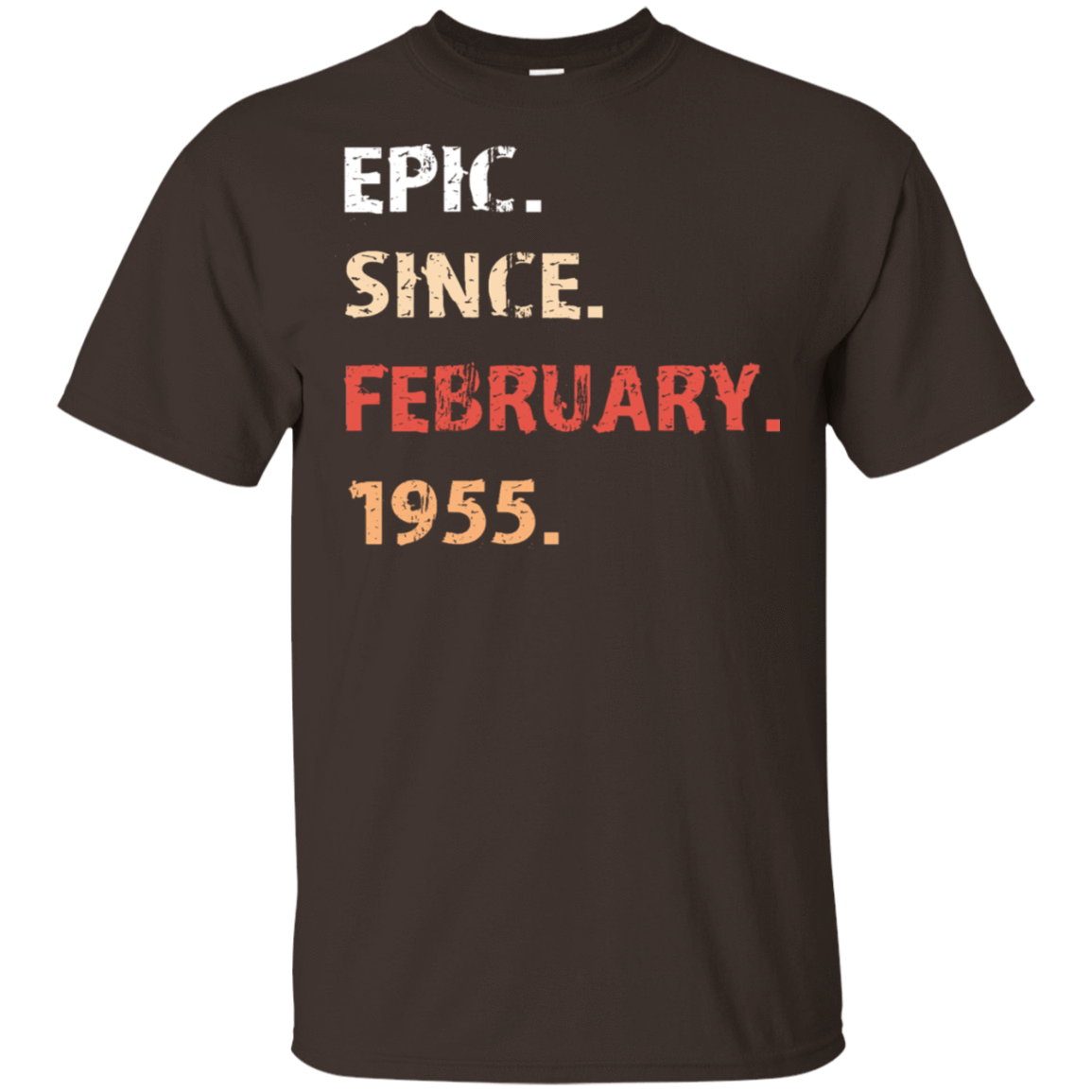 Epic Since February 1955 Birthday Gift 22-2283-71482157-12087 - Tee Ript