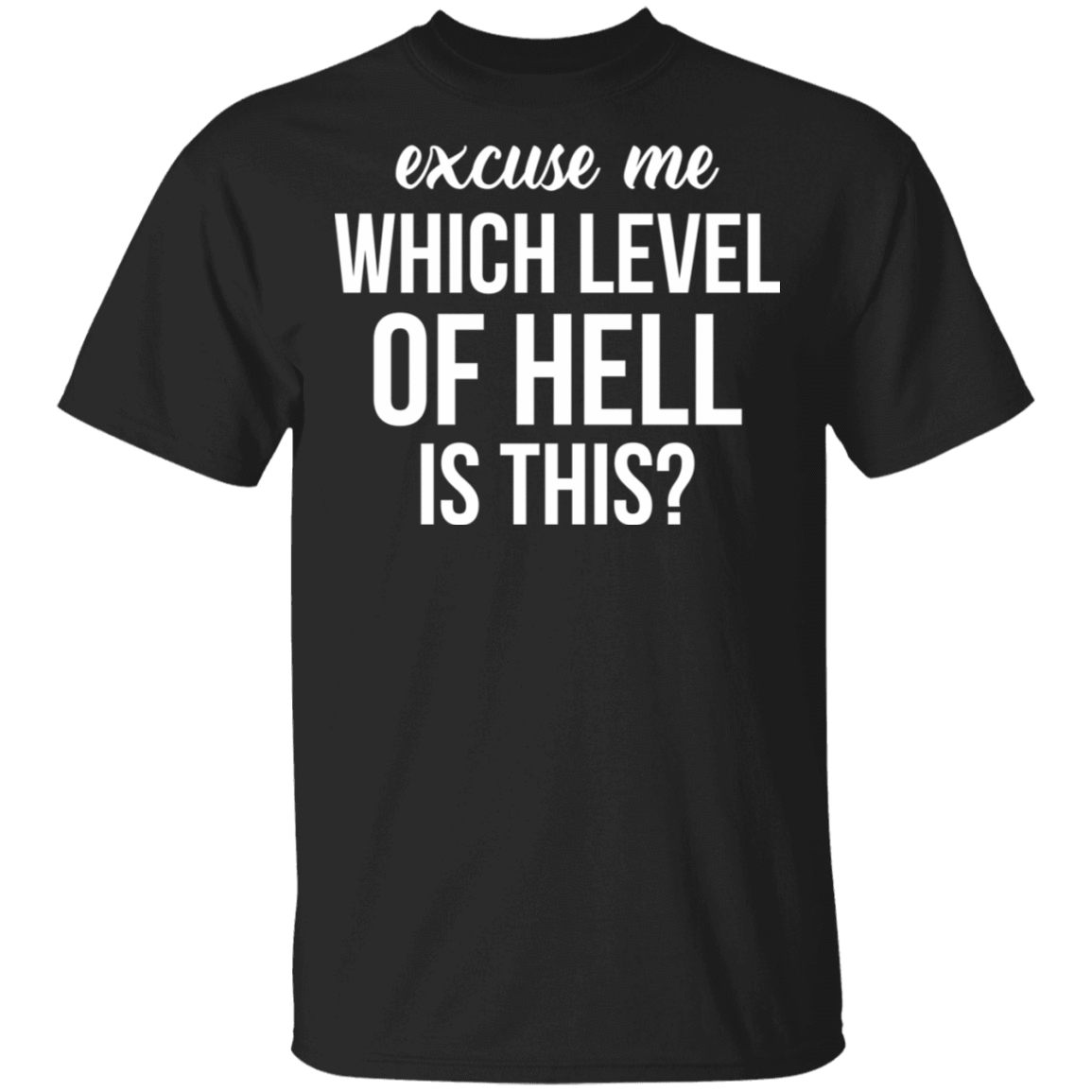 Excuse Me Wich Level Of Hell Is This T-Shirts, Hoodies, Tank 22-113-79712503-252 - Tee Ript