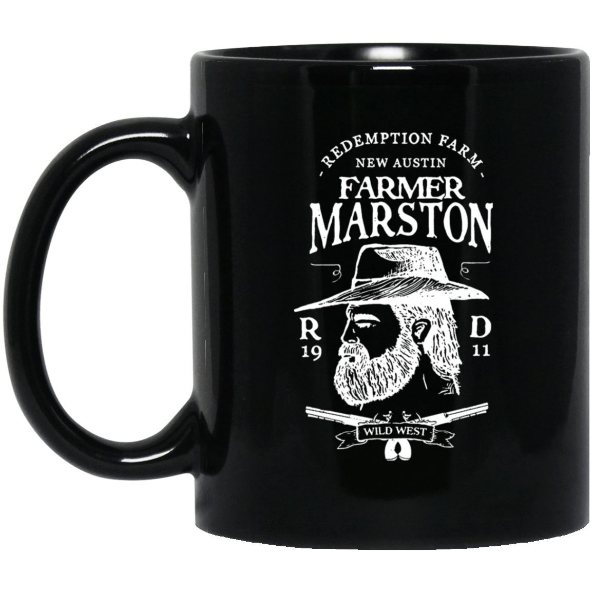Farmer Marston Redemption Farm New Austin 1911 Black Mug 1065-10181-92839365-49307 - Tee Ript