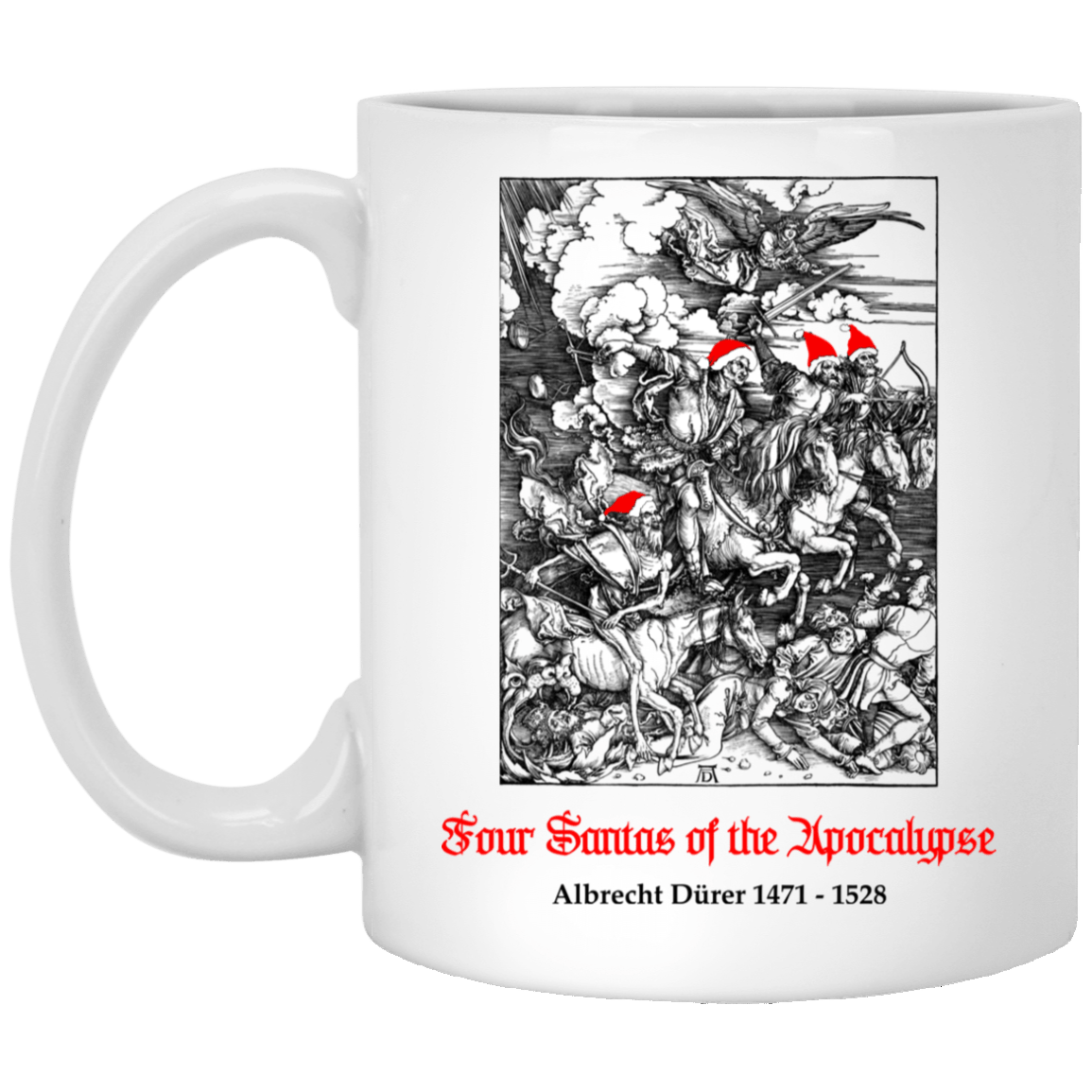 Four Santas Of The Apocalypse Albrecht Dürer 1471 1528 Mug 1005-9786-91587498-47417 - Tee Ript