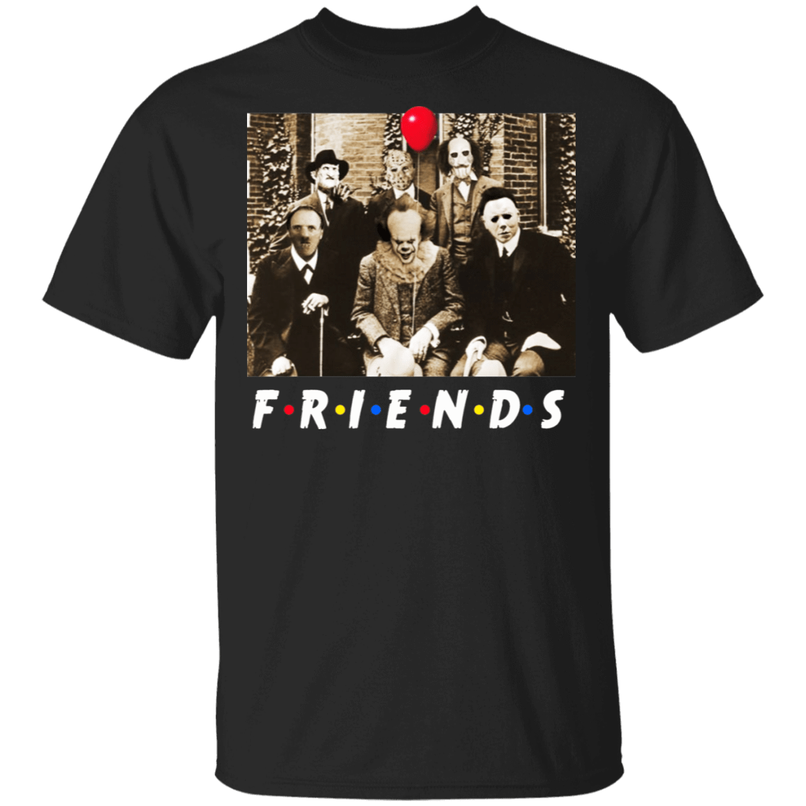 Friends Halloween Horror Team Scary Movies Costume T-Shirts, Hoodies, Tank 22-113-79579316-252 - Tee Ript