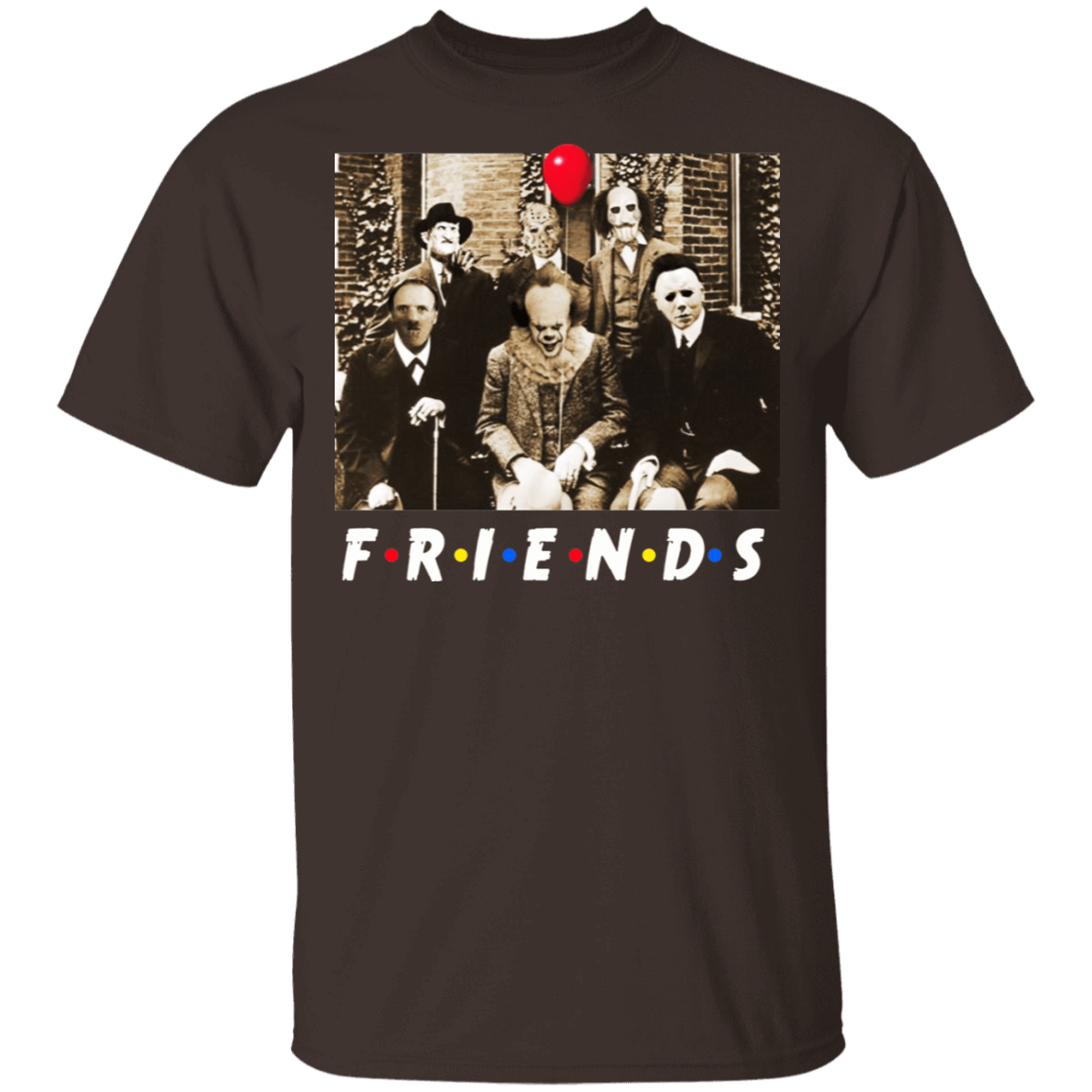 Friends Halloween Horror Team Scary Movies Costume T-Shirts, Hoodies, Tank 22-2283-79579316-12087 - Tee Ript