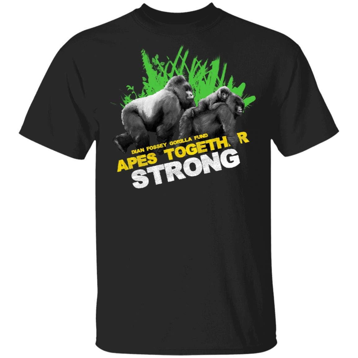 Gorilla Dian Fossey Gorilla Fund Apes Together Strong T-Shirts, Hoodies 1049-9953-93031551-48144 - Tee Ript