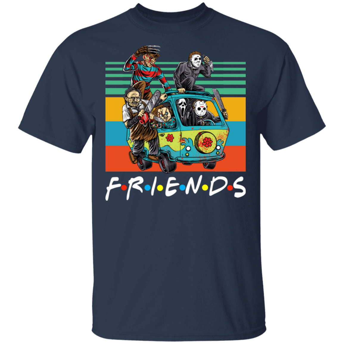 Halloween Friends Characters Horror T-Shirts, Hoodies, Tank 22-111-79579314-250 - Tee Ript
