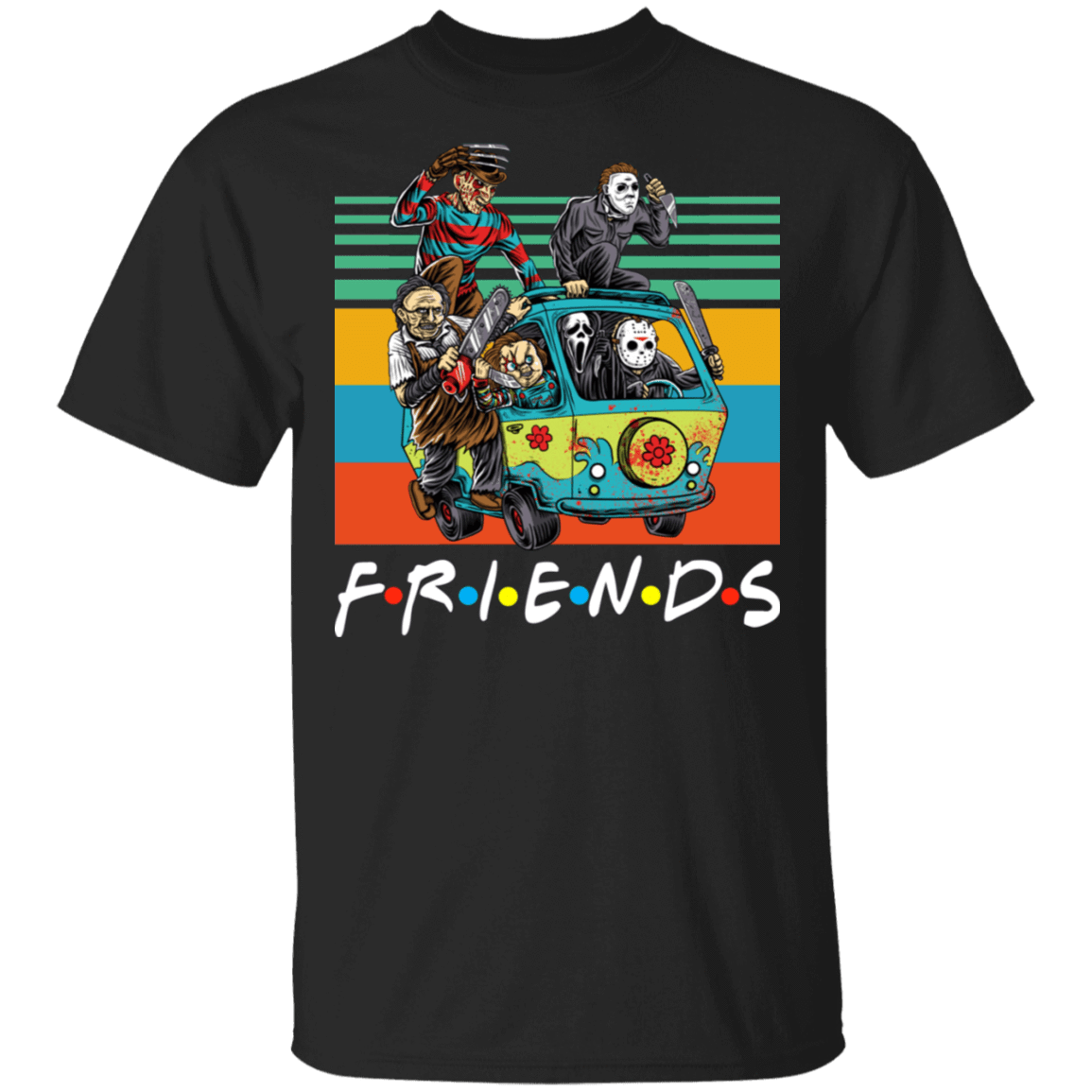 Halloween Friends Characters Horror T-Shirts, Hoodies, Tank 22-113-79579314-252 - Tee Ript