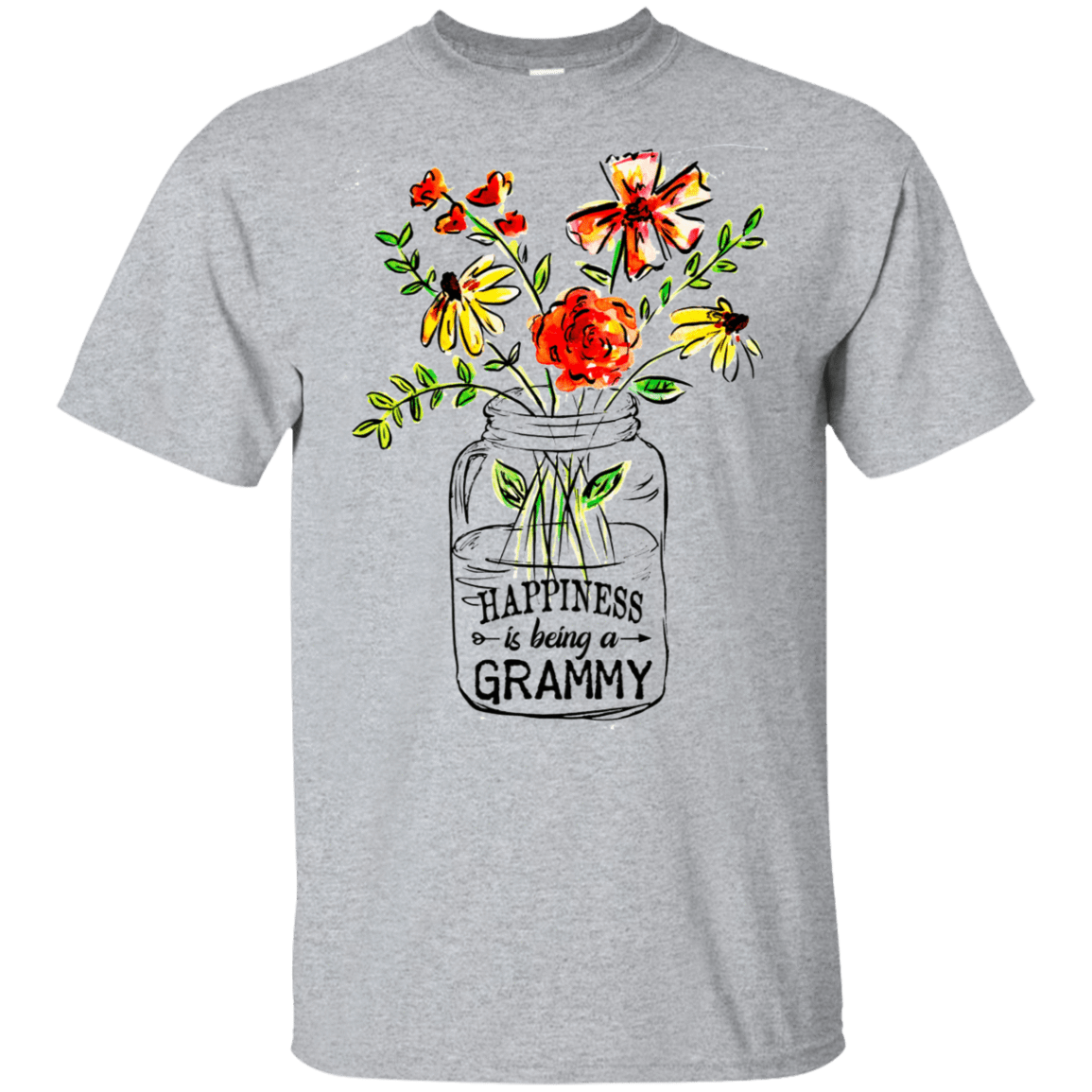 Happiness Is Being A Grammy Flower 22-115-74371522-254 - Tee Ript