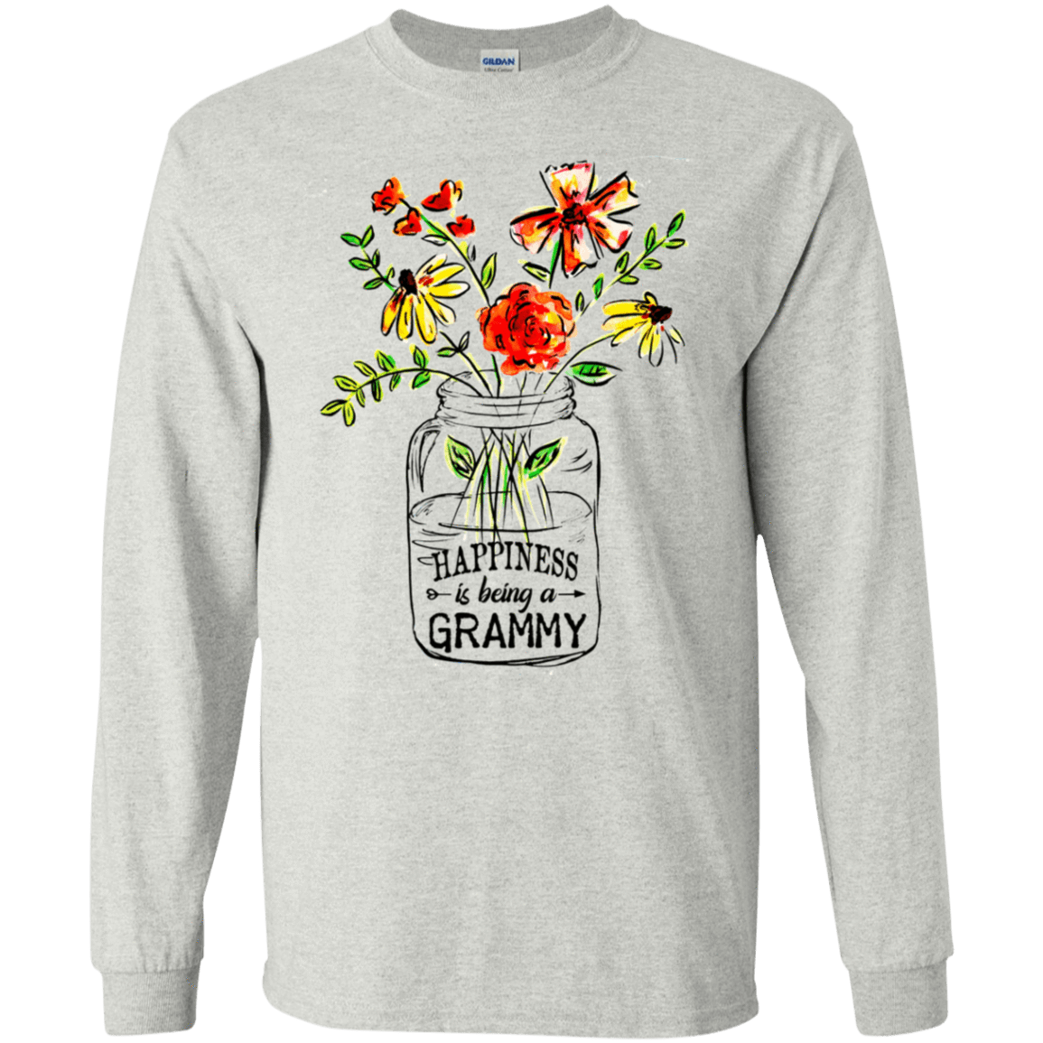 Happiness Is Being A Grammy Flower 30-2112-74371523-10754 - Tee Ript