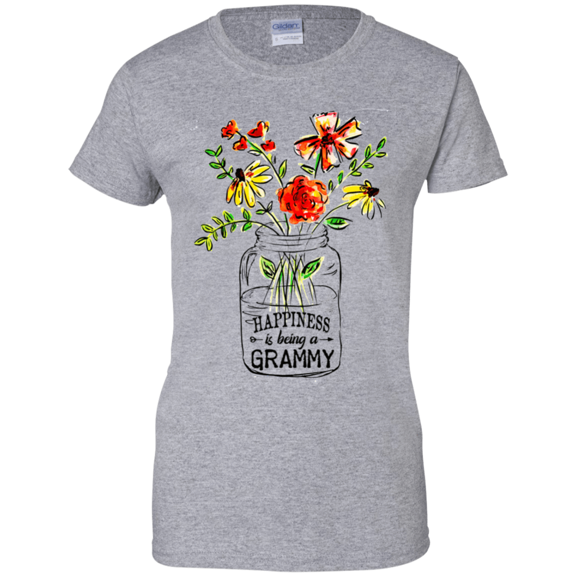 Happiness Is Being A Grammy Flower 939-9265-74371525-44821 - Tee Ript