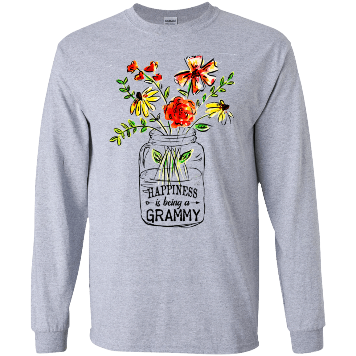 Happiness Is Being A Grammy Flower 30-188-74371523-335 - Tee Ript