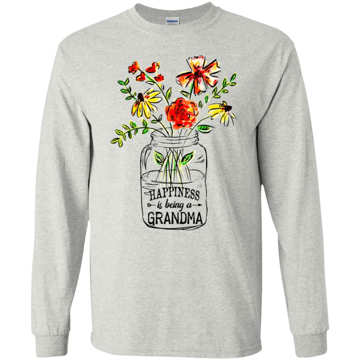 Happiness Is Being A Grandma Flower 30-2112-74332700-10754 - Tee Ript