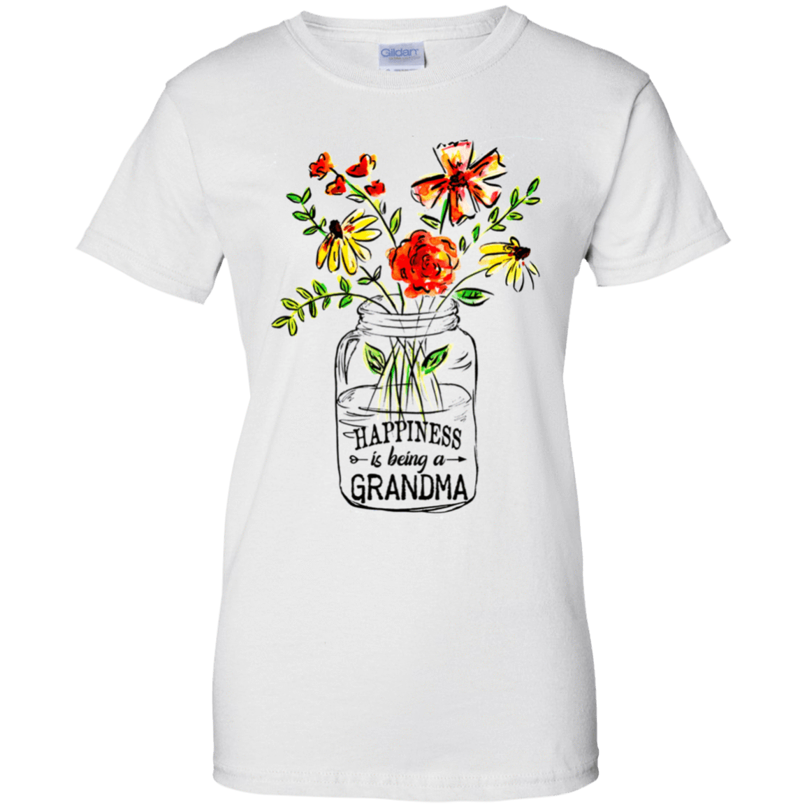 Happiness Is Being A Grandma Flower 939-9247-74332702-44814 - Tee Ript