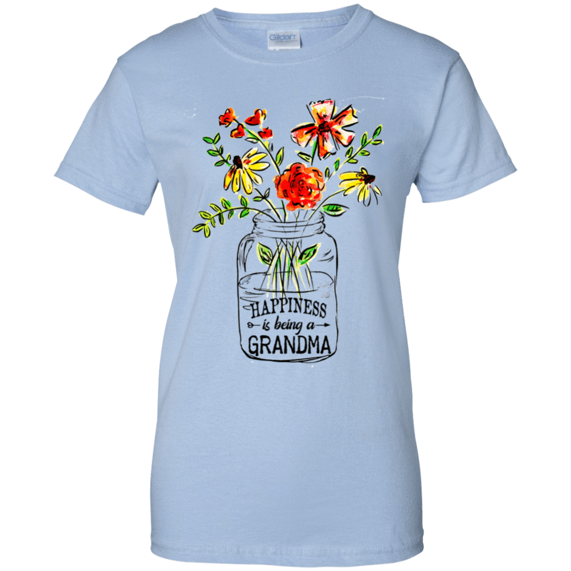 Happiness Is Being A Grandma Flower 939-9257-74332702-44716 - Tee Ript