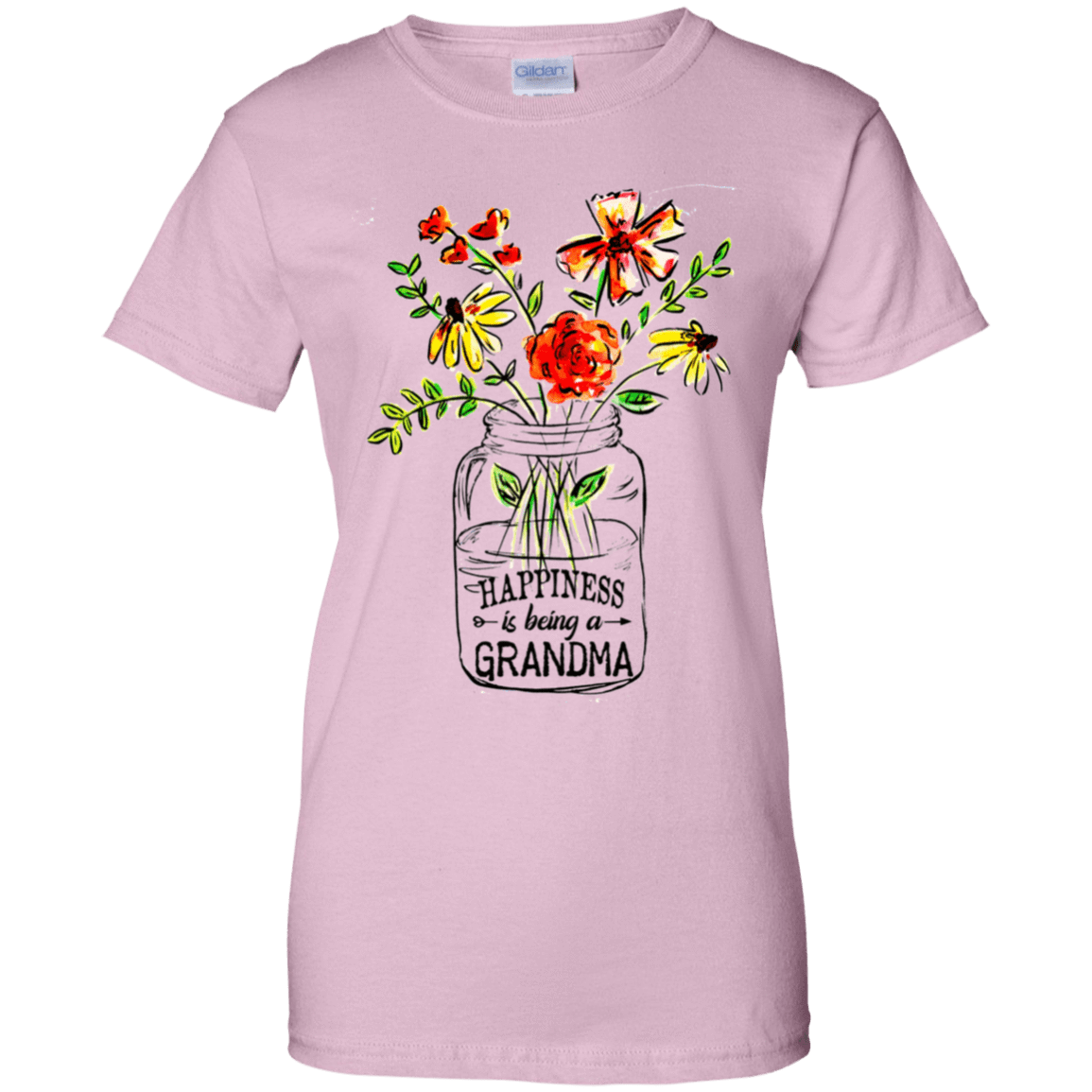 Happiness Is Being A Grandma Flower 939-9258-74332702-44786 - Tee Ript