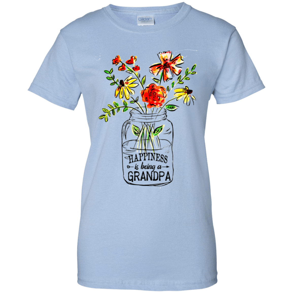 Happiness Is Being A Grandpa Flower 939-9257-74371521-44716 - Tee Ript