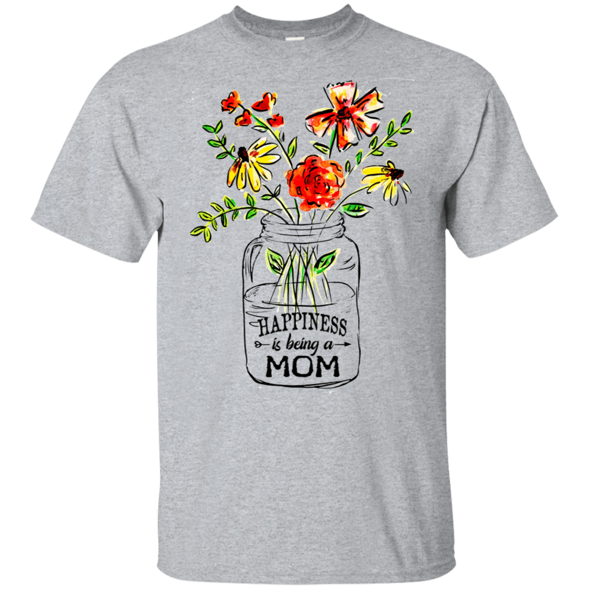 Happiness Is Being A Mom Flower 22-115-74371510-254 - Tee Ript