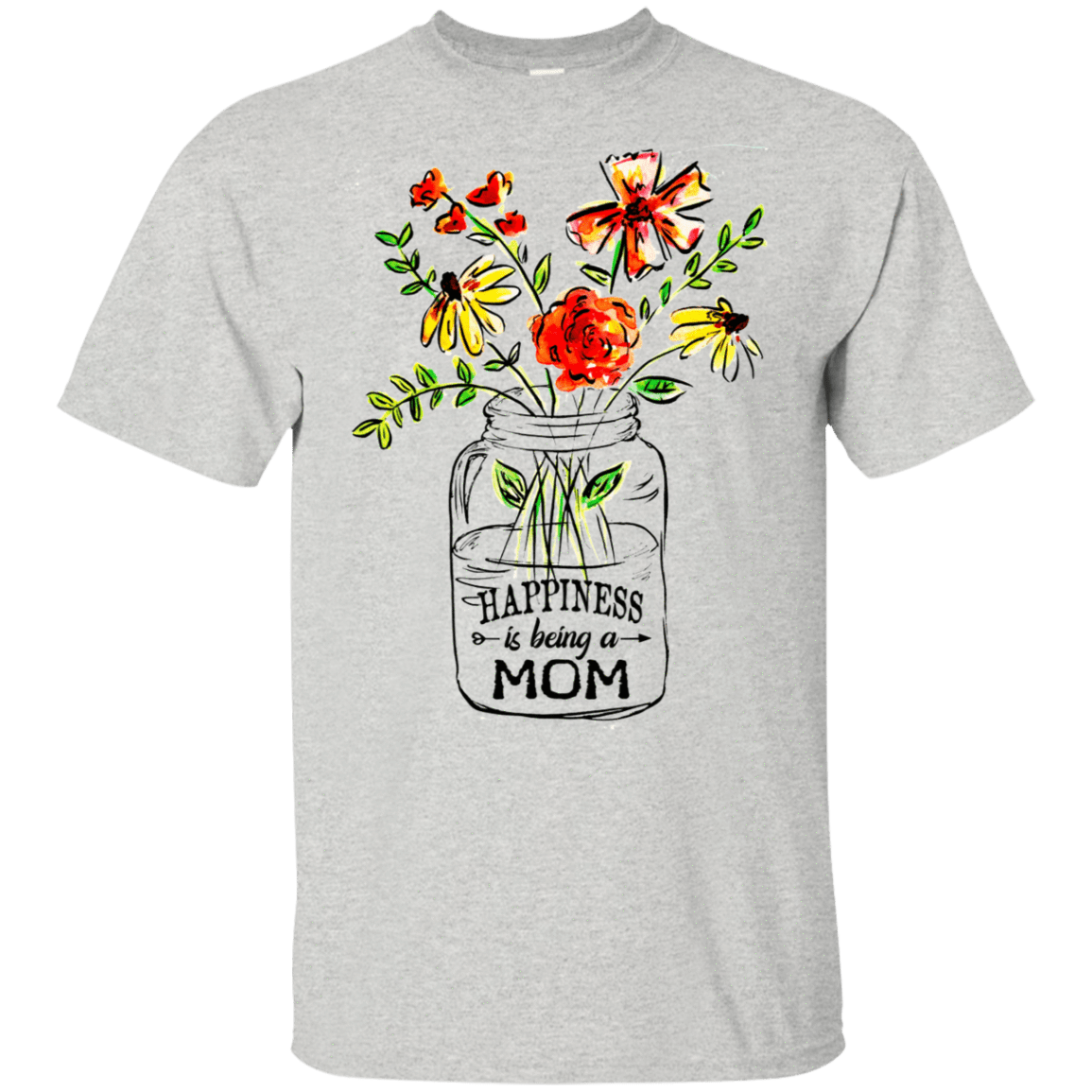 Happiness Is Being A Mom Flower 22-2475-74371510-12568 - Tee Ript