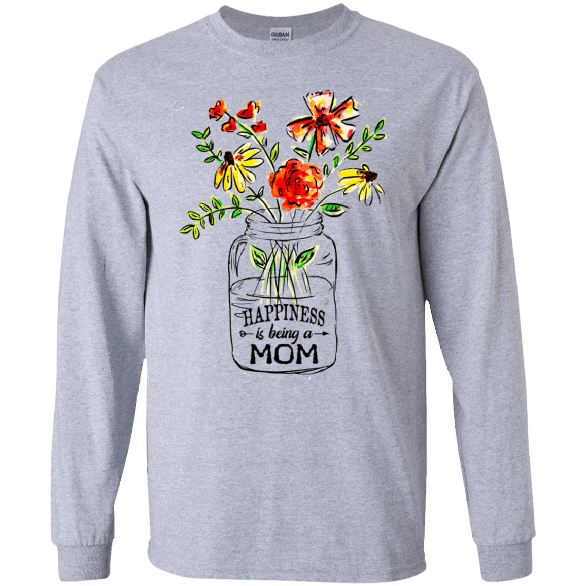 Happiness Is Being A Mom Flower 30-188-74371511-335 - Tee Ript