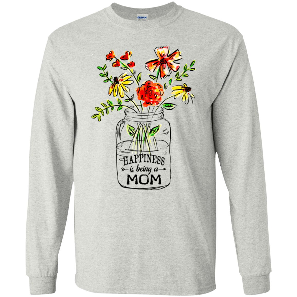 Happiness Is Being A Mom Flower 30-2112-74371511-10754 - Tee Ript