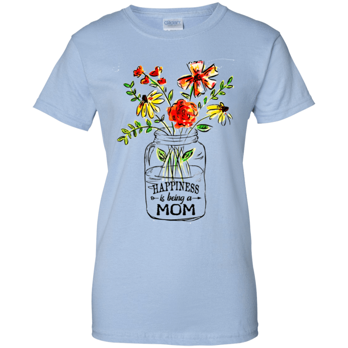 Happiness Is Being A Mom Flower 939-9257-74371513-44716 - Tee Ript