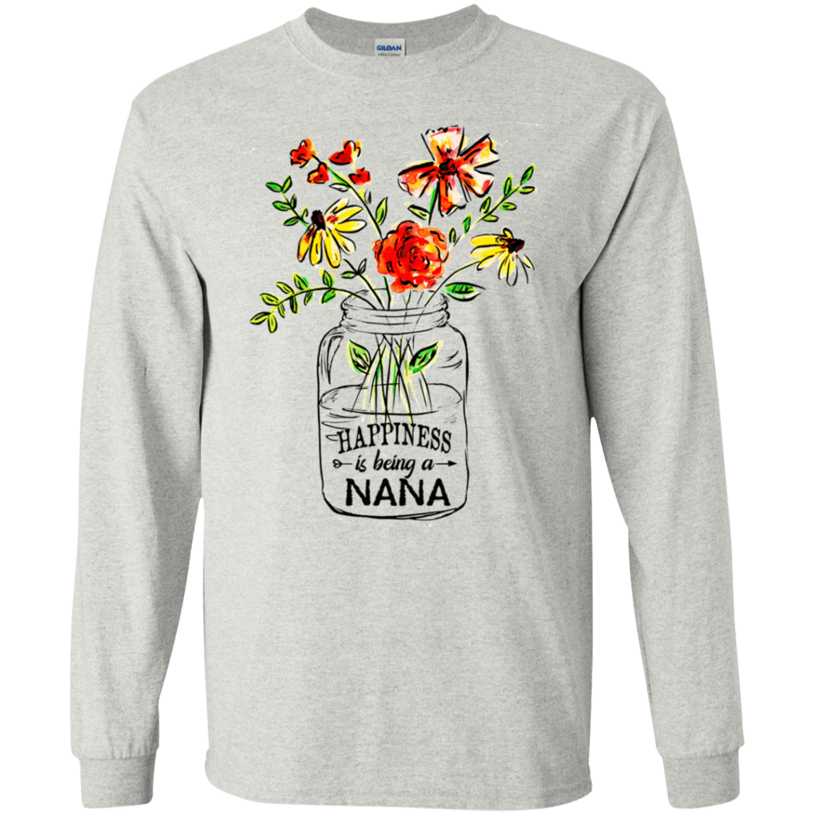 Happiness Is Being A Nana Flower 30-2112-74334445-10754 - Tee Ript