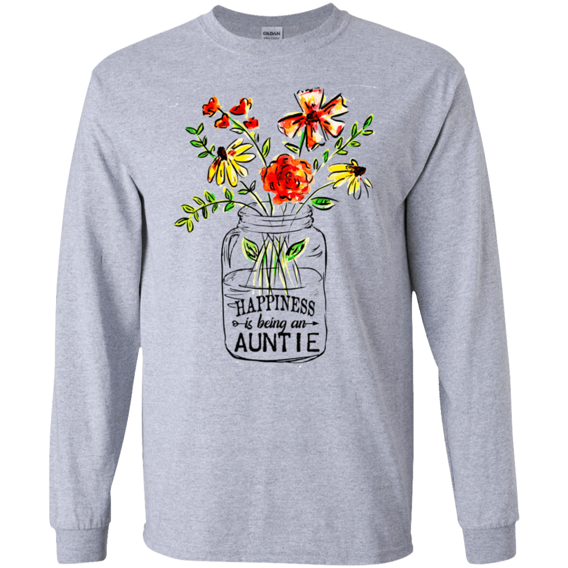 Happiness Is Being An Auntie Flower 30-188-74371527-335 - Tee Ript
