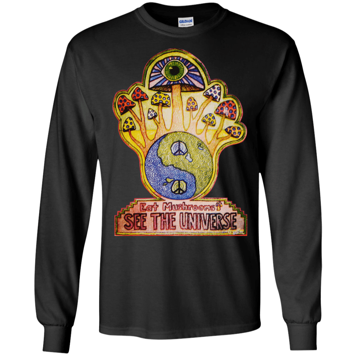 Hippie Eat Mushrooms See The Universe 30-186-73889256-333 - Tee Ript