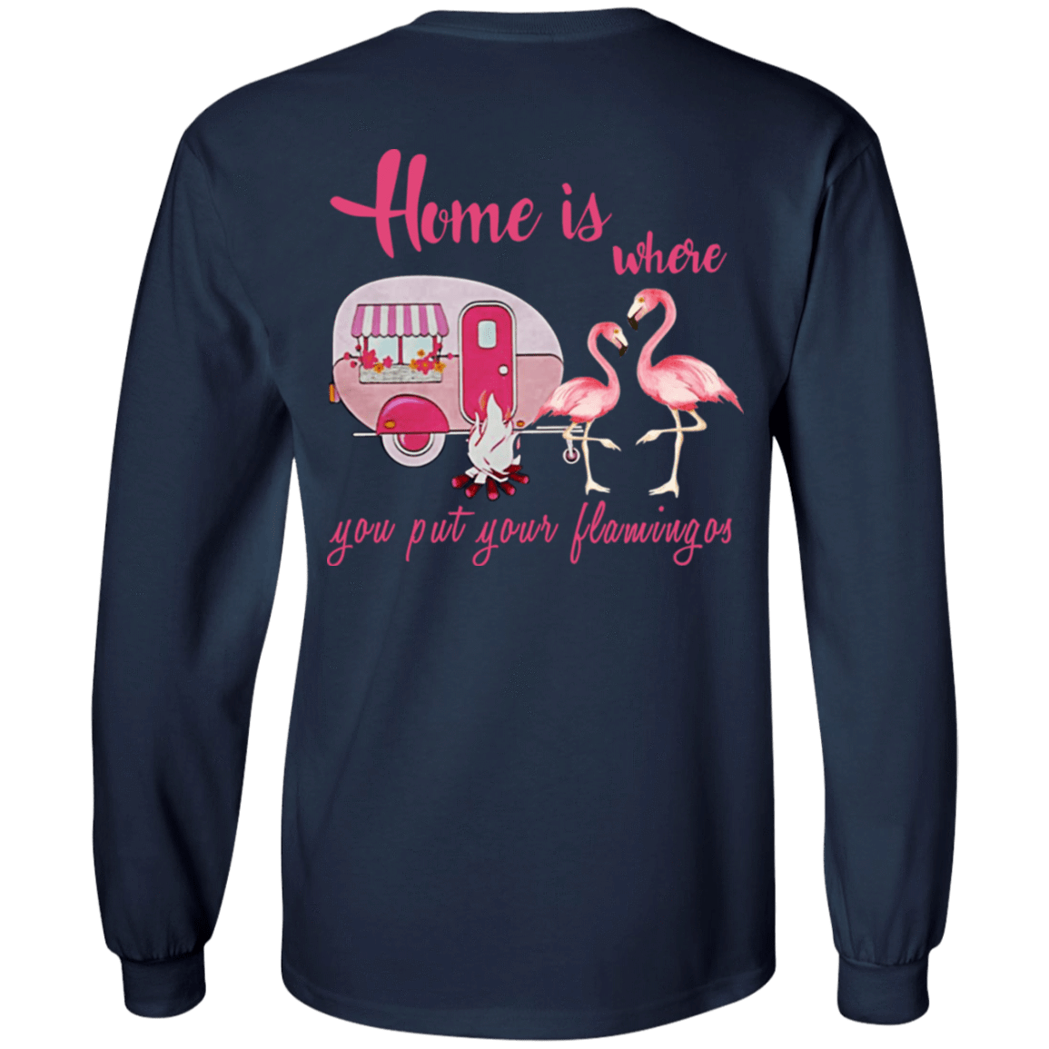 Home Is Where You Put Your Flamingos 30-184-71739802-331 - Tee Ript