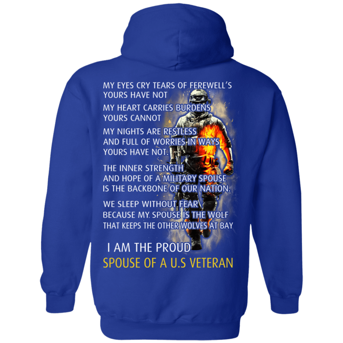 I Am The Proud Spouse Of A U.S Veteran 541-4765-72773569-23175 - Tee Ript