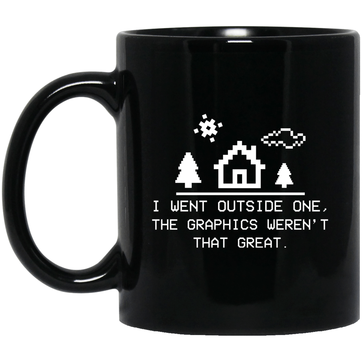I Went Outside One The Graphics Weren't That Great Mug 1065-10181-91587451-49307 - Tee Ript