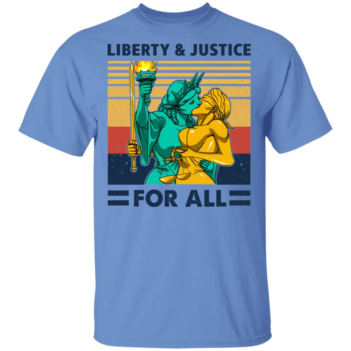 Liberty & Justice For All Vintage T-Shirts, Hoodies 1049-9955-88477981-48160 - Tee Ript