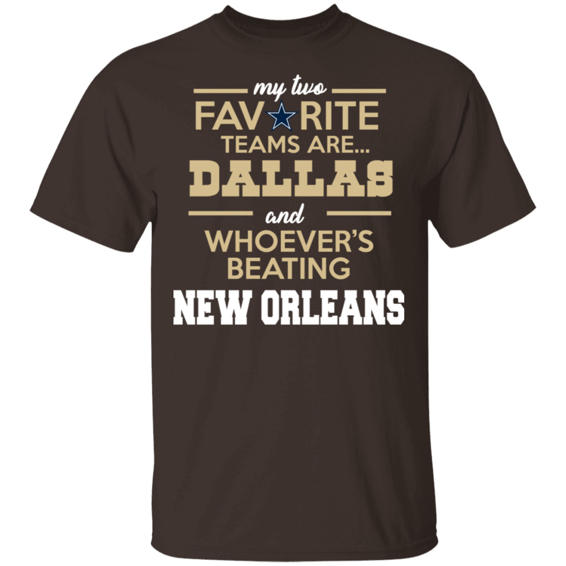My Two Favorite Teams Are New Dallas And Whoever's Beating New Orleans T-Shirts, Hoodies 22-2283-80162960-12087 - Tee Ript