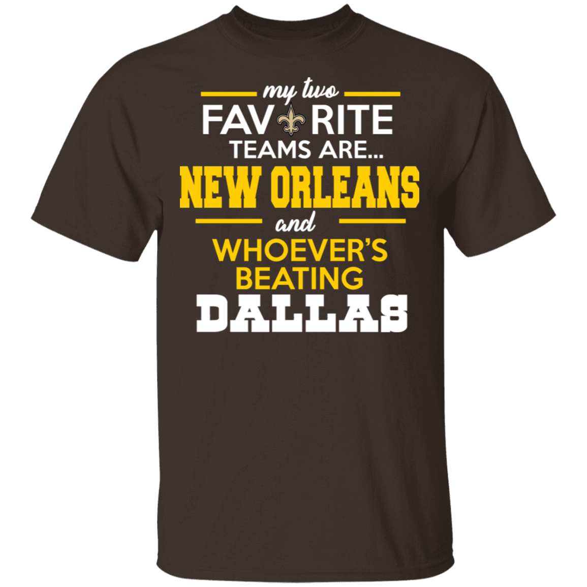 My Two Favorite Teams Are New Orleans And Whoever's Beating Dallas T-Shirts, Hoodies 22-2283-80162956-12087 - Tee Ript