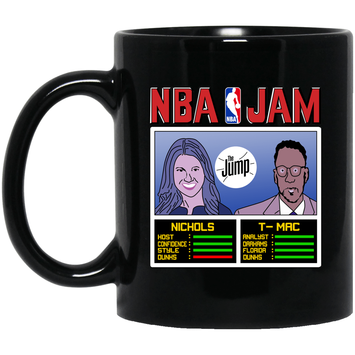 NBA Jam The Jump Nichols TMac Black Mug 1065-10181-93051322-49307 - Tee Ript