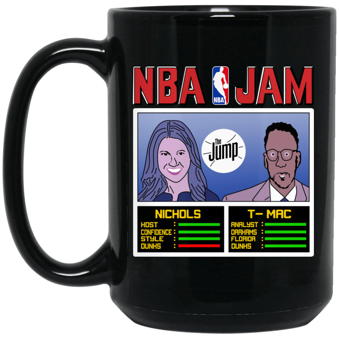 NBA Jam The Jump Nichols TMac Black Mug 1066-10182-93051323-49311 - Tee Ript