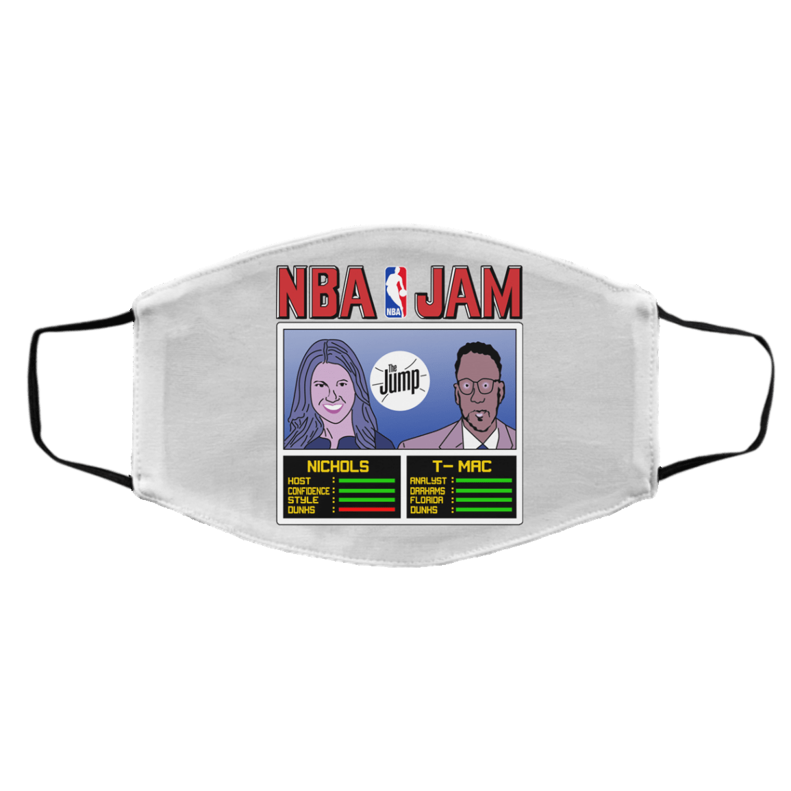 NBA Jam The Jump Nichols TMac Face Mask 1274-13170-93051372-59058 - Tee Ript