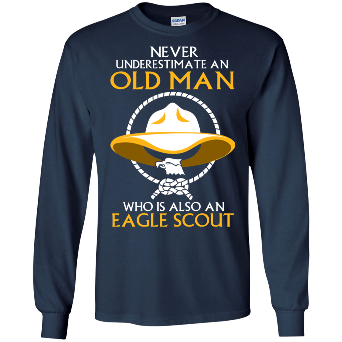 Never Underestimate An Old Man Who Is Also An Eagle Scout 30-184-72933372-331 - Tee Ript