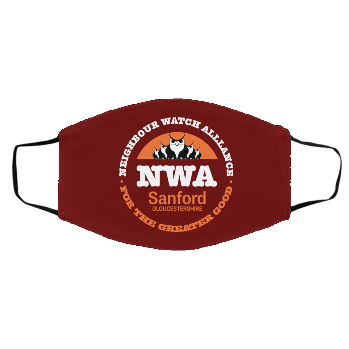 NWA Neighbourhood Watch Alllance For The Greater Good Face Mask 1274-13181-91587536-59069 - Tee Ript