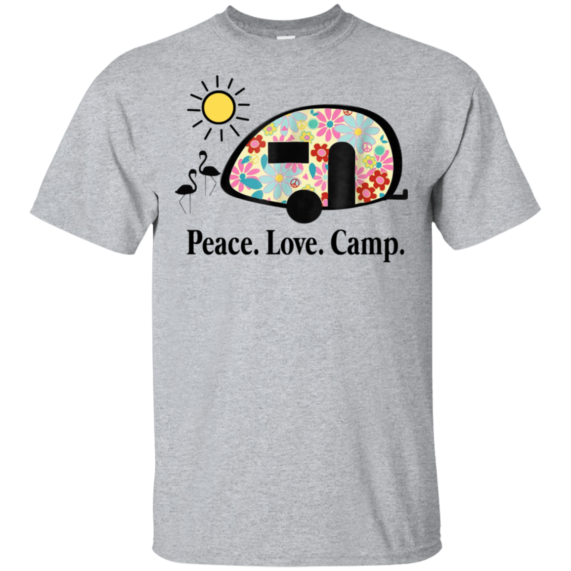 Peace. Love. Camp. Camping 22-115-73889463-254 - Tee Ript