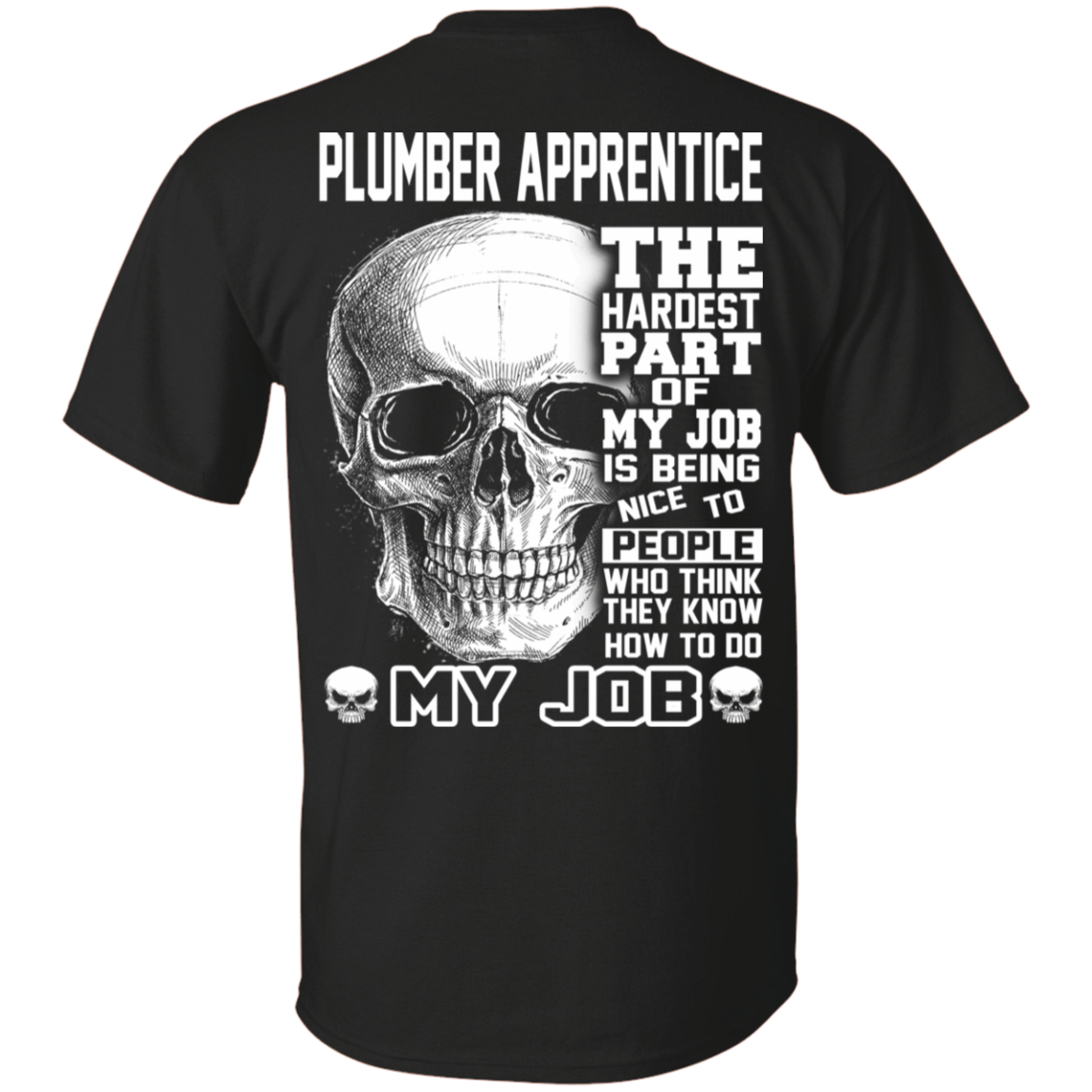Plumber Apprentice The Hardest Part Of My Job 22-113-72369945-252 - Tee Ript