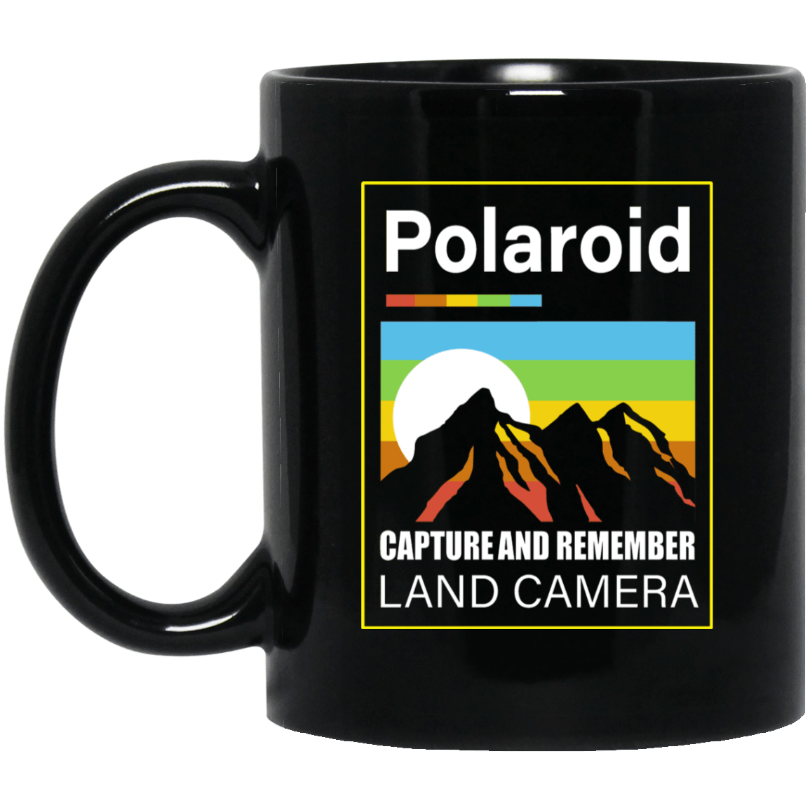 Polaroid Capture And Remember Land Camera Black Mug 1065-10181-93051320-49307 - Tee Ript