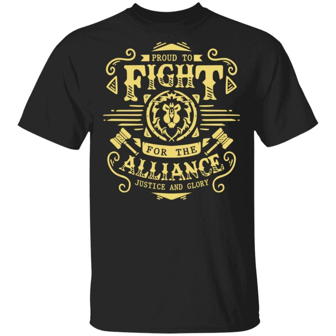 Proud To Fight For The Alliance Justice And Glory World Of Warcraft T-Shirts, Hoodies 1049-9953-88064147-48144 - Tee Ript