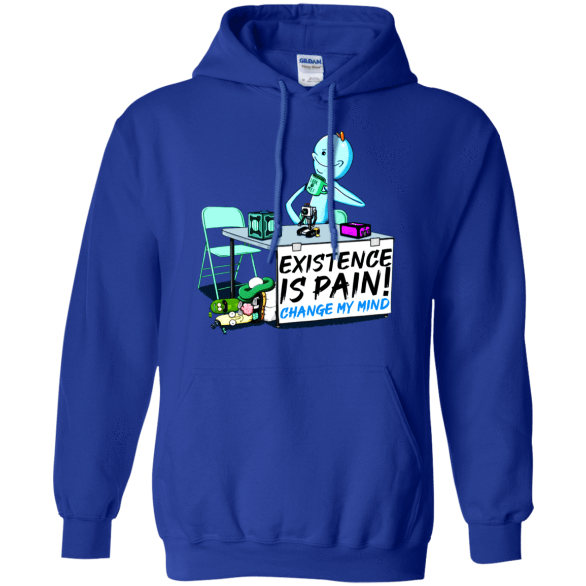 Rick And Morty: Mr. Meeseeks Existence Is Pain Change My Mind T-Shirts & Hoodies 541-4765-76151406-23175 - Tee Ript