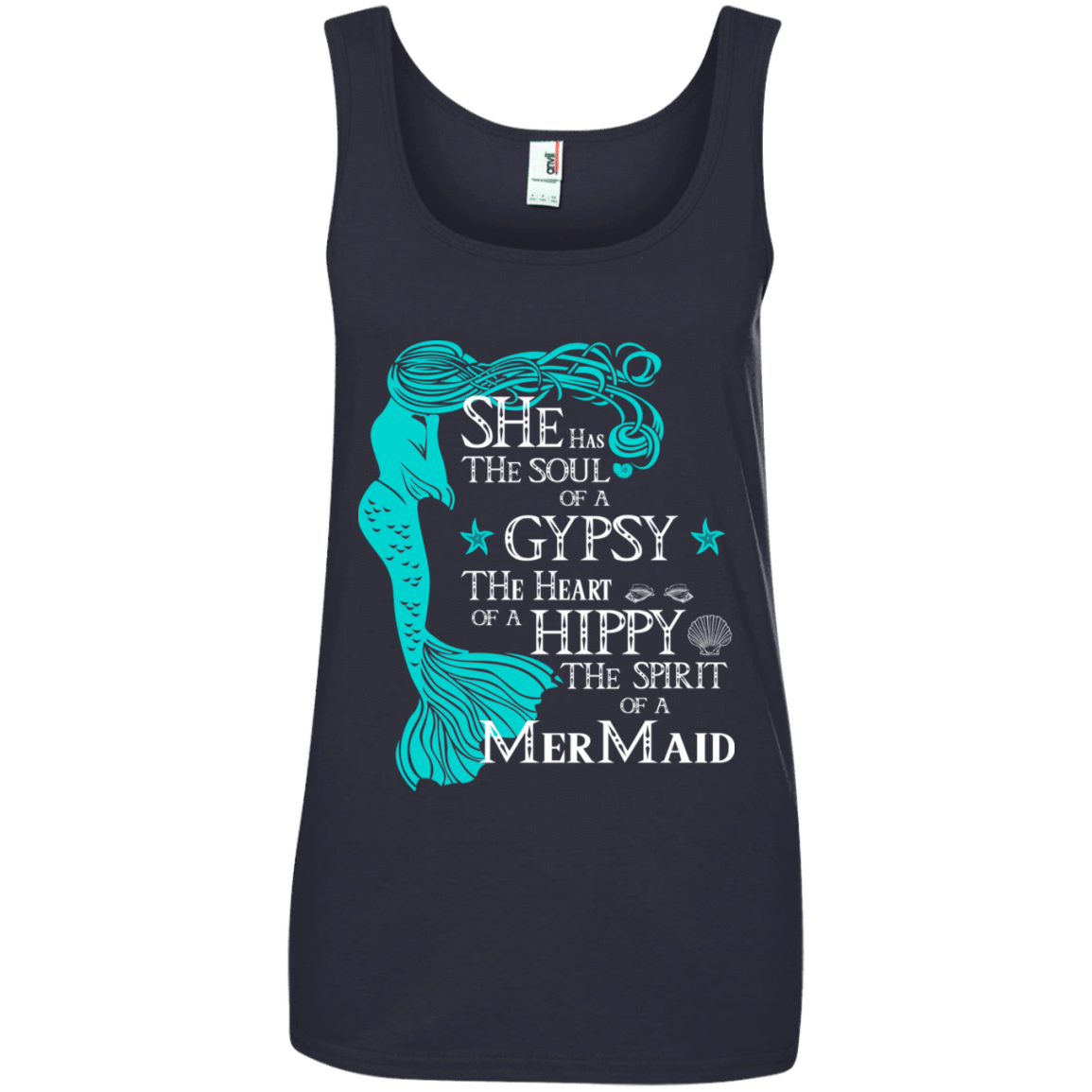 She Has The Soul Of A Gypsy The Heart Of A Hippy The Spirit Of A Mermaid 864-8757-72932507-42375 - Tee Ript