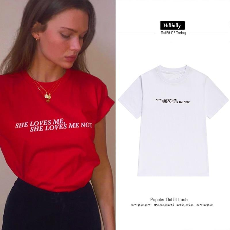 """She Love Me She Love Me Not"" T-Shirts - Tee Ript"